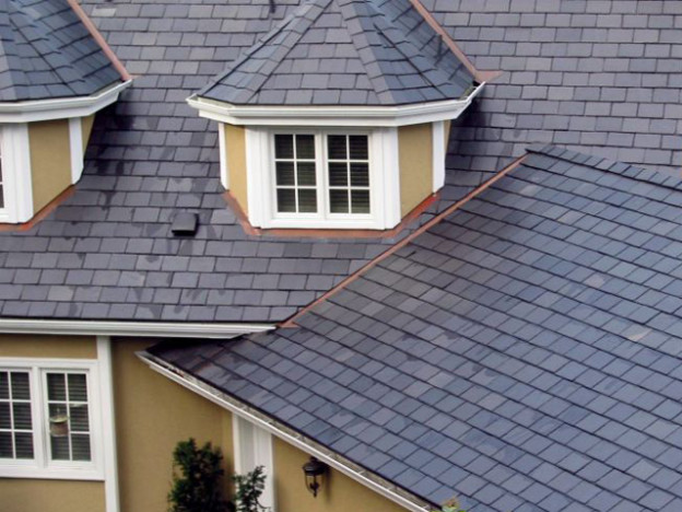 slate roofing project
